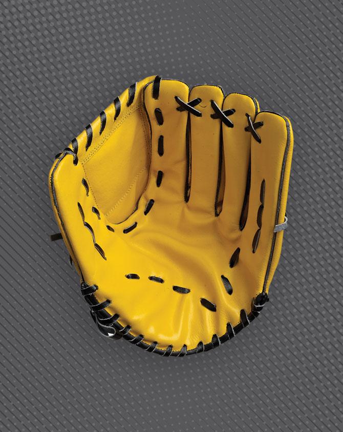 HUNTS County Leather Left Hand Cricket Baseball Catching Mitt Glove